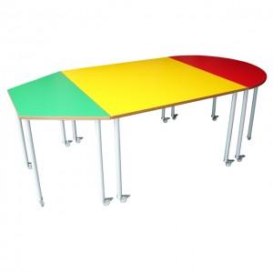 Conjunto  de mesas con ruedas